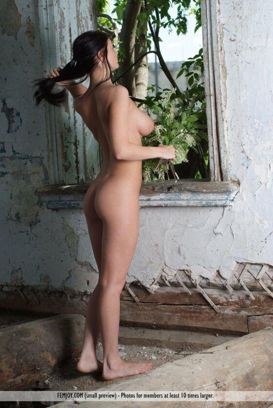 Morena linda nua fazendo imagens de bucetas